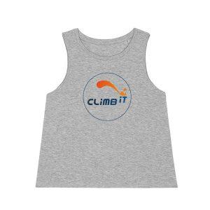 Debardeur-d-escalade-femme-climb-it-escalade-factory-dancer-gris chiné coton organique