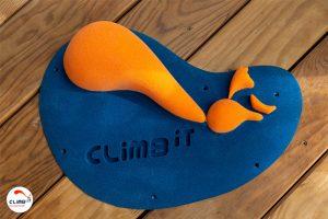 Prise d'escalade CLIMB IT escalade factory. Prise bac personnalisée orange et noir