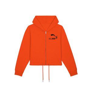 weat-shirt-d-escalade-femme-climb-it-escalade-factory-boxer orange tangerine coton organique
