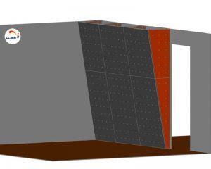 Dessin de conception du mur d'escalade intérieur Colorado signé Climb it constructeur de murs d'escalade